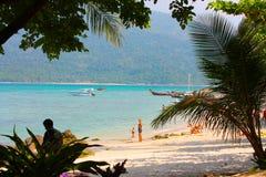 Wyspa klimaty na plaży w Thailand obraz stock