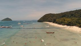 Wyspa KO-HE w Tajlandia, strzela od quadrocopter Zdjęcie Royalty Free