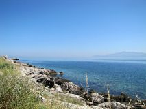 Wyspa krajobraz, Grecja obrazy royalty free