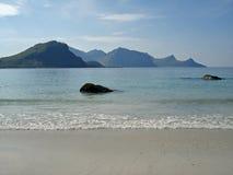 wyspa krajobraz lofoten górę szorstką Obraz Royalty Free
