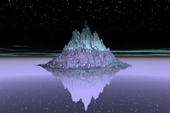 wyspa lodowa ilustracja wektor