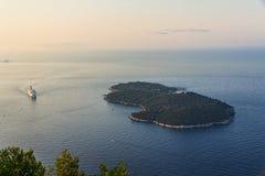 Wyspa Lokrum Zdjęcie Royalty Free