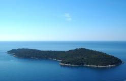 Wyspa Lokrum blisko Dubrovnik, Chorwacja Zdjęcia Stock