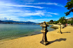 wyspa Miyajima fotografia royalty free