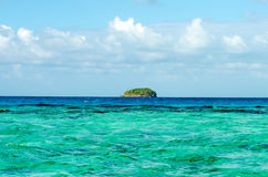 Wyspa na horyzoncie Zdjęcie Stock