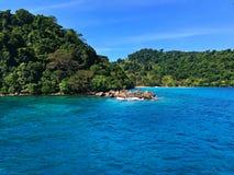Wyspa wyspa natury złudzenie Zdjęcie Stock