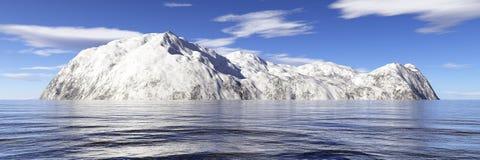 wyspa śnieg Obrazy Royalty Free