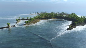 Wyspa niezwykła forma Zdjęcia Stock