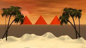 wyspa ostrosłupy Obraz Royalty Free