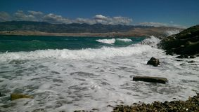 Wyspa Pag w Chorwacja Zdjęcia Royalty Free