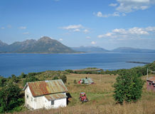 wyspa piękny krajobraz vesteralen Zdjęcie Royalty Free