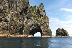 wyspa podpalany krajobraz nowy Zealand Obraz Royalty Free
