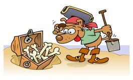 wyspa psi skarb royalty ilustracja