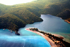 Wyspa Raj niebo Widok Zdjęcia Stock