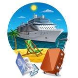 Wyspa rejs royalty ilustracja