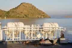 Wyspa Samochodowy prom obrazy royalty free