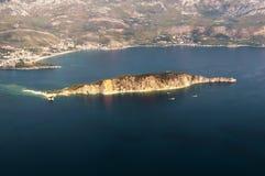 Wyspa St. Nicholas. Budva - 2 fotografia royalty free