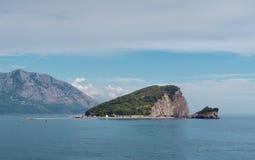 Wyspa St. Nicholas. Budva. fotografia stock