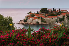 Wyspa St Stefan Montenegro Fotografia Royalty Free