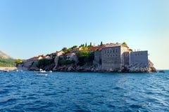 Wyspa St Stephen w Adriatyckim morzu Zdjęcia Stock