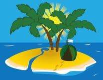 wyspa tropikalna Zdjęcia Stock
