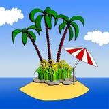 wyspa tropikalna Royalty Ilustracja