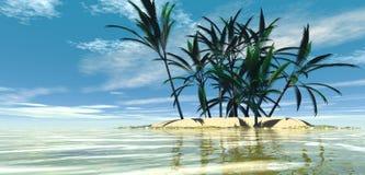 wyspa tropikalna ilustracji