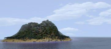 Wyspa tropikalny Widok Zdjęcia Stock
