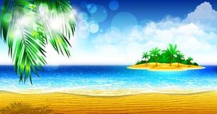 Wyspa tropikalny wybrzeże Zdjęcia Royalty Free