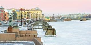 wyspa vasilevsky Obrazy Royalty Free