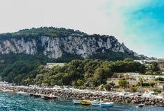 wyspa Włochy capri Marina Grande molo zdjęcie stock