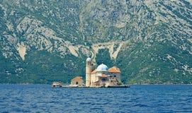 Wyspa w dennej zatoce Kotor, Montenegro Fotografia Royalty Free