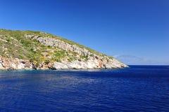 Wyspa w Ionian morzu, Zakynthos Zdjęcia Stock