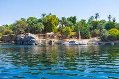 Wyspa w Nil Obrazy Royalty Free