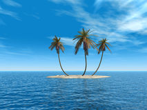 wyspa w połowie Fotografia Stock