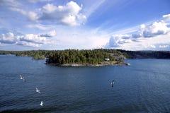 Wyspa w Sztokholm archipelagu Zdjęcia Royalty Free