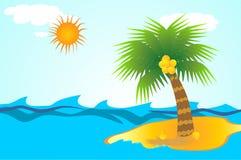 Wyspa w tropikalnym morzu Obrazy Stock