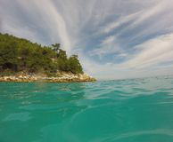 Wyspa widok Fotografia Stock