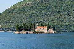 Wyspa święty George, Kotor zatoka, Montenegro Zdjęcie Stock