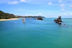 wyspa z zapadniętych tropikalnych wraków Zdjęcia Stock