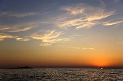 wyspa zmierzch Zdjęcie Royalty Free