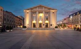 Wyspianskitheater op het centrale vierkant van Katowice stock foto