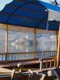 wyspy łódkowaty kościelny jezioro Zdjęcia Royalty Free