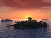 wyspy 3 n Obrazy Royalty Free