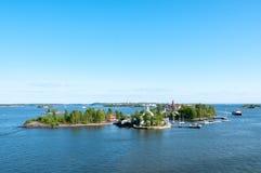 Wyspy archipelag w morzu bałtyckim blisko Helsinki Obrazy Stock