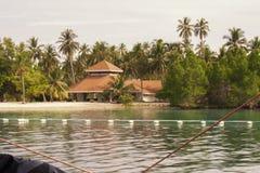 Wyspy chmielenia miejsce przeznaczenia w Samal, wyspy Grden Samal miasto Zdjęcie Royalty Free
