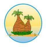 wyspy drzewko palmowe tropikalni dwa Obrazy Stock