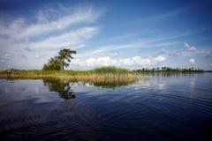 wyspy duńskiej jezior krajobrazowej charakteru Wadden mały przypływu morza wilder wody Fotografia Royalty Free