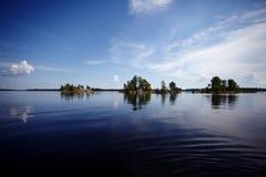 wyspy duńskiej jezior krajobrazowej charakteru Wadden mały przypływu morza wilder wody Zdjęcie Stock