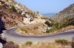 wyspy gór droga Zakynthos Fotografia Royalty Free
